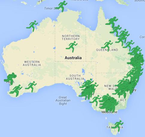 If you visit: https://www.goodsamapp.org/mapOfResponders you can view all the responders in Australia.