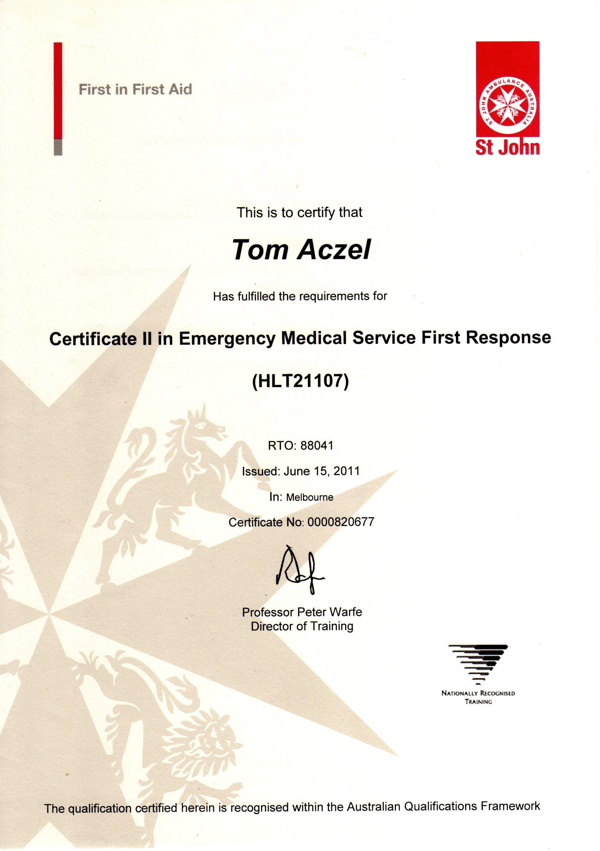 About tom aczel emergency medical response first aid training xflitez Gallery